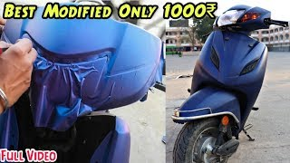 Honda Activa Modified In Cheap Price   Tapping/Wrapping   Best Modified Scooter In India