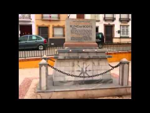 """Das Denkmal """"Sir James Douglas"""", Teba"""