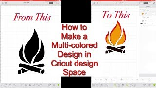 Cricut design space tutorial! How to make a multi-color layered design in cricut design space!
