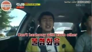 Running Man   Kwang Soo and Gary singing funny