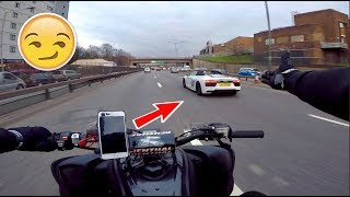 MY QUAD BIKE vs AUDI R8 *YAMAHA RAPTOR 700*