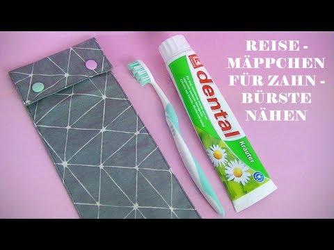 Reisemäppchen für Zahnbürste nähen