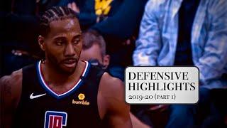 Kawhi Leonard Defensive Highlights | Oct 22 - Nov 7, 2019 | Los Angeles Clippers