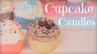 DIY CUPCAKE CANDLE - Room Decor - How To| SoCraftastic