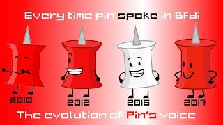 Every time Pin spoke in bfdi [Evolution of Pin's voice]