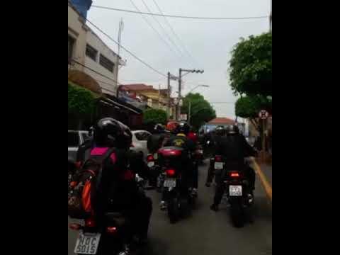 Chegada da 8•romaria de motoqueiros de bandeira do Sul/campestre em aparecida
