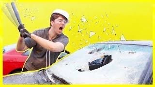DESTROYING A CAR! *NOT CLICKBAIT*