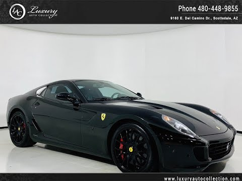 Pre-Owned 2008 Ferrari 599 GTB Fiorano Coupe in Nero/Nero