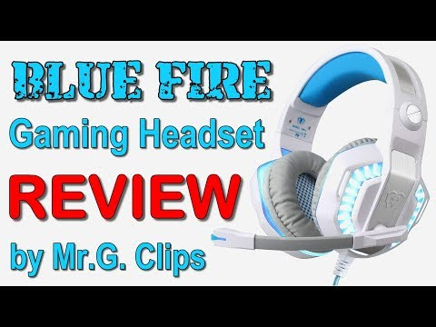 BLUE FIRE Gaming Headset REVIEW and Sound Test!