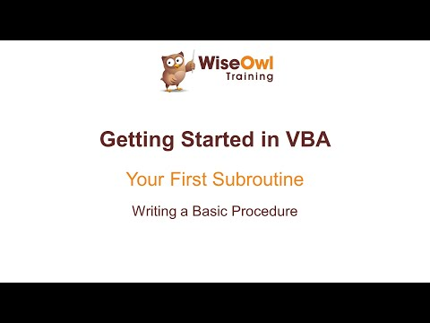 Excel VBA Online Course - 1.1.2 Writing a Basic Procedure - YouTube