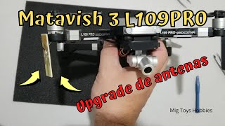 L109PRO upgrade de antenas do FPV