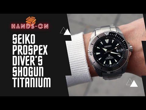 SEIKO PROSPEX DIVERS SHOGUN TITANIUM SPB189J1