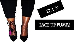 Lace Up Shoe DIY