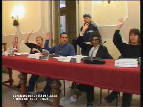 IL CONSIGLIO COMUNALE DI ALASSIO DI GIOVEDI' 30 GENNAIO 2020
