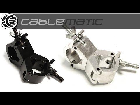 Abrazadera doble plata/negra para Truss o barra de iluminación de 30mm distribuido por CABLEMATIC ®