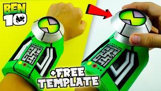 How To Make Ben 10 Ultimatrix | Easy DIY Alien Watch +FREE TEMPLATE | Homemade Cartoon Network Toy