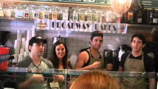 "Newsies sing ""Watch What Happens"" at Broadway Bakes!"