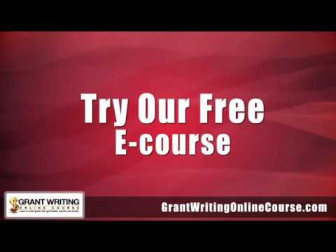 Grant Writing | Free Grant Writing Course | Grant Writing Online ...