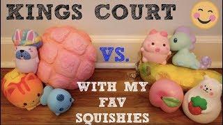 KINGS COURT WITH MY FAV SQUISHIES + NEW UNICORN SQUISHY