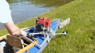 preview picture of video 'Faltboot-Motor - Folding canoe with engine'