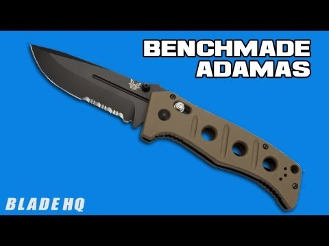 "Benchmade Sibert 275SBKSN Adamas AXIS Lock Knife Tan G10 (3.82"" Black Serr)"