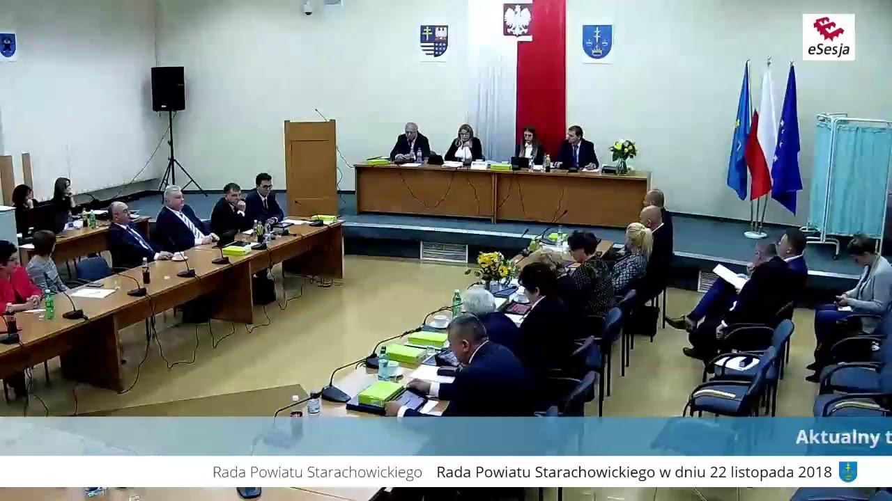 Inauguracyjna Sesja Rady Powiatu w Starachowicach kadencji 2018-2023 - część II