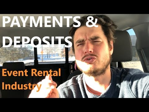 Payments & Deposits - Growing My Event Rental Business