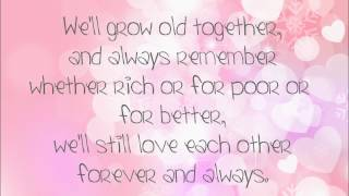Forever and Always by Parachute (LYRICS)