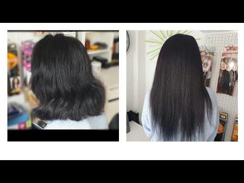 Wie du  Haarextensions auf Europäisches Haar einnähen kannst