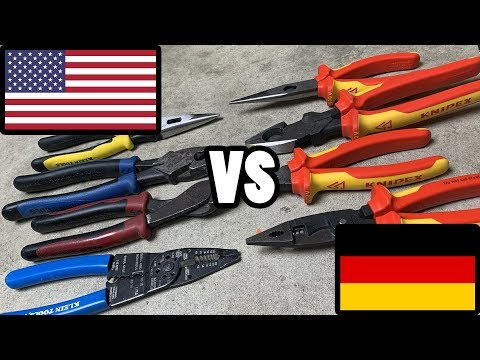 TOOL WAR I – US Made vs German Made – Which is better, Klein or Knipex?