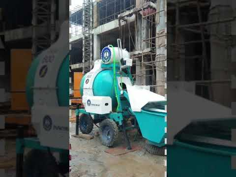 Concrete Mixer-RM800 - Mini Batching Plant - Reversible Drum Mixer