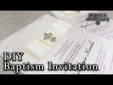 diy elegant christening baptism invitation with decorated box diy