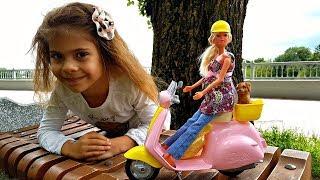 Беременная #БАРБИ на скутере! 🚲 Видео с куклами Barbie / Мультики для Детей ♥️ Новая серия Барби!