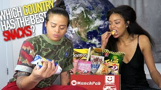 FIRST TIME EATING SNACKS FROM AROUND THE WORLD (MUNCHPAK REVIEW)