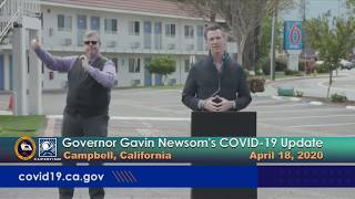 Governor Newsom's COVID-19 Update - April 18, 2020  (Campbell, CA)