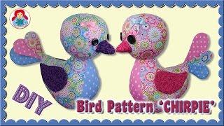 DIY | Bird Plushie CHIRPIE | Step By Step Sewing Tutorial • Sami Dolls