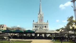 preview picture of video 'Church of the Virgin Mary, Amphawa, Samut Songkhram, Thailand'