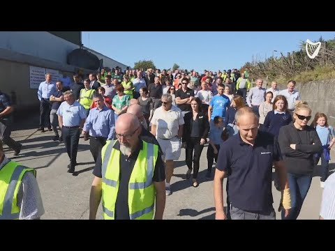 VIDEO: Staff at Quinn Industrial Holdings march against ongoing campaign of intimidation
