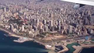 preview picture of video 'A320 landing at Beirut Intl airport'