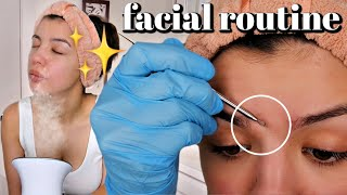 DIY FACIAL ROUTINE AT HOME FOR CLEAR SKIN!