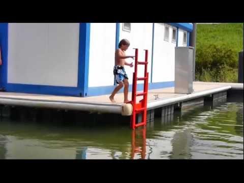 Sleiter die ideale Badeleiter und Stegleiter für den Notfall und täglichen Gebrauch