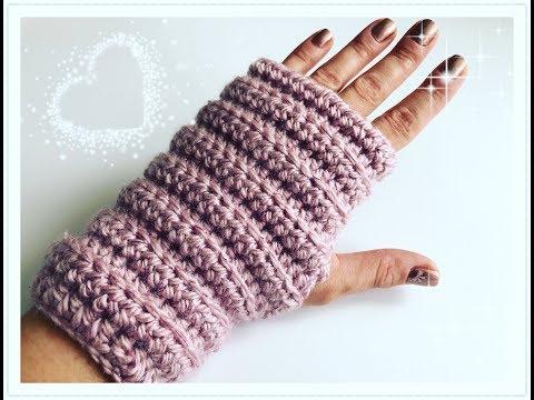 EINFACHE Fingerlose Handschuhe häkeln / Armstulpen häkeln für Anfänger