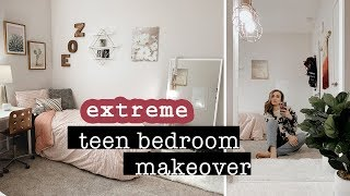 EXTREME Teen Bedroom Makeover // ROOM TOUR 2019 | XO, MaCenna