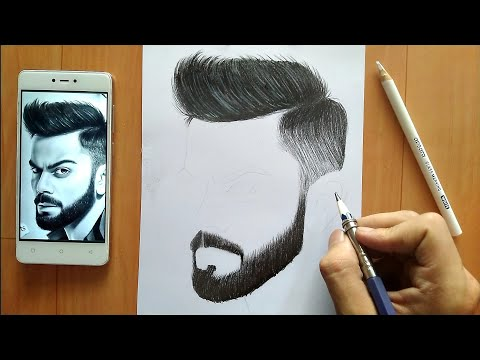 draw beard realistic pencil drawing tutorial