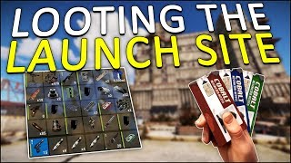 LOOTING the LAUNCH SITE with my KEYCARDS! - Rust Solo #3