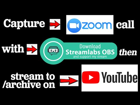 Tutorial: Record/Stream/Archive your Zoom Meeting to/on YouTube, using Streamlabs OBS