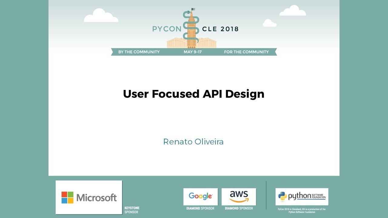 User focused API Design