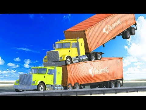 CRAZY Stunts and Crashes Beamng Drive