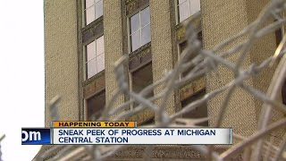 Moroun offers a sneak peek inside Michigan Central Station