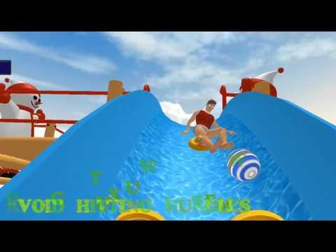 animated water slide